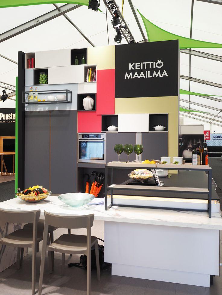 Keittiömaailma osastoa Asuntomessut 2016. #asuntomessut2016 #keittiömaailma #keittiö #kitchen #sisustus