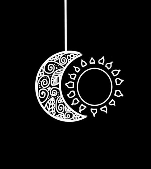 Sun, moon, love, scared, shinning   We Heart It   moon, sun, and ...