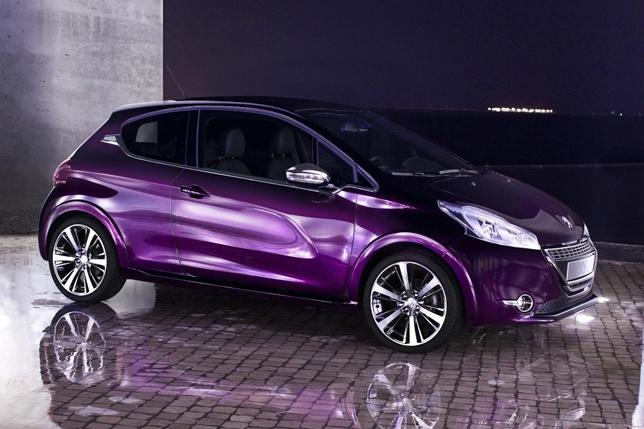 Peugeot 208 XY Concept  purple car