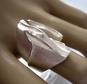 Bjorn WECKSTRÖM   XXL Vintage Silver Ring, Modernist, 17.3 g   LAPPONIA, FINLAND