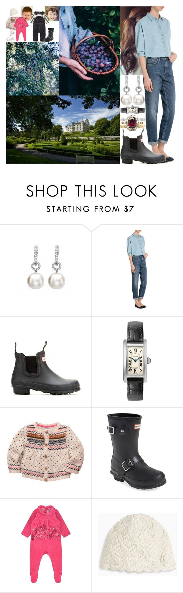 """Picking plums for a cake in the orchard of Dunrobin with the help from Ethan and Lily in the morning"" by marywindsor ❤ liked on Polyvore featuring Topshop, M.i.h Jeans, Hunter, Carter's and Catimini"