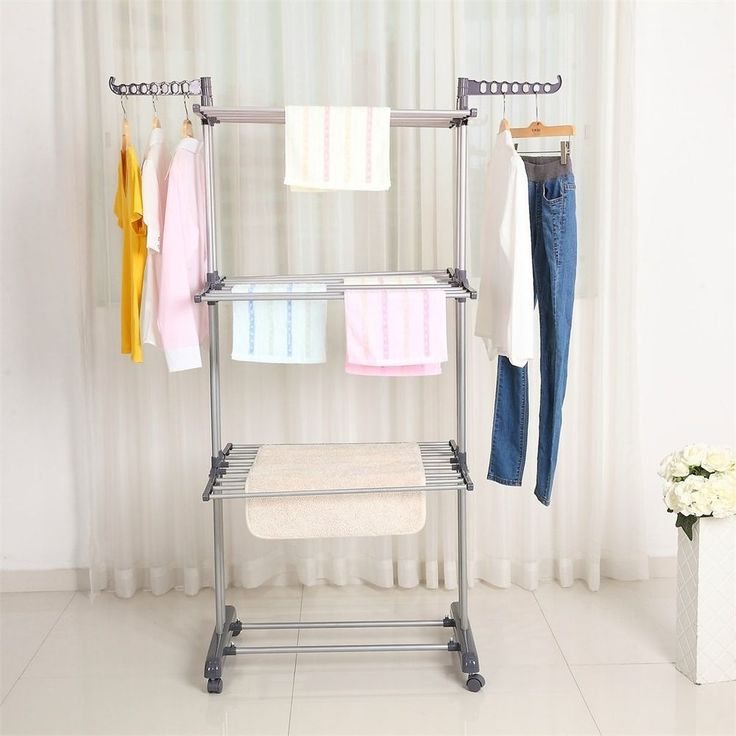 3 Tier Foldable Clothes Airer Laundry Dryer Rack In/Outdoor Dry Rail Hanger SA   Home, Furniture & DIY, Household & Laundry Supplies, Airers/ Driers/ Clothes Horses   eBay!