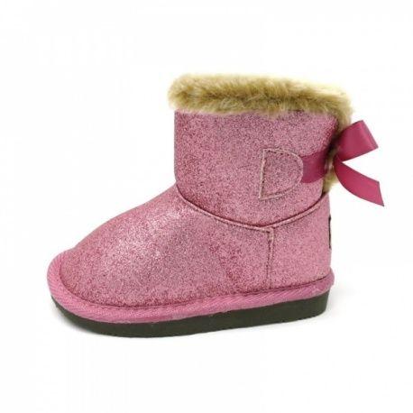 Botas australianas rosa glitter