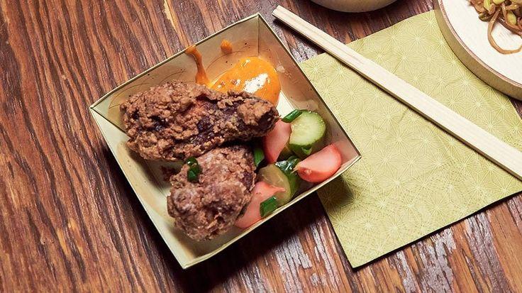 Karaage Chicken with Gochujang Mayo and Pickles