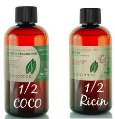 huile de ricin cheveux mélange ricin coco Plus
