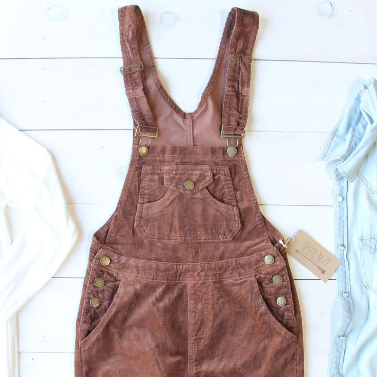 Sweet rust tones adorn these cozy corduroy overalls. A soft brushed corduroy base pairs with a traditional overall styling, a tailored non-bulky skinny fit, and a stretch design throughout for the per
