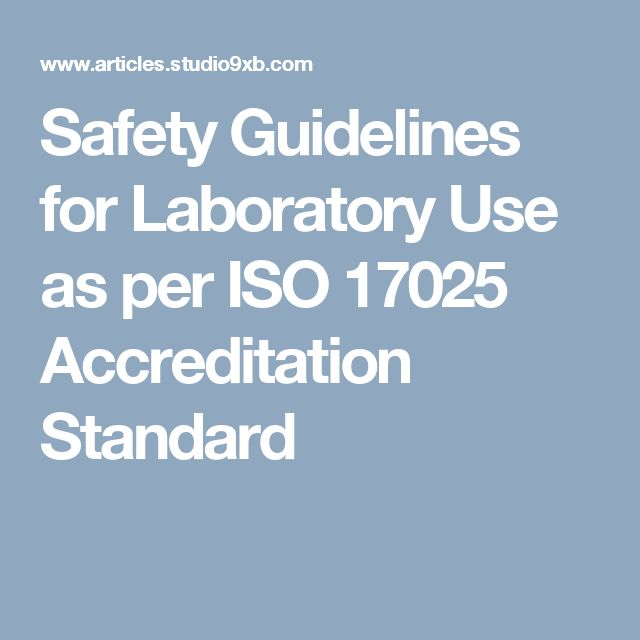 Safety Guidelines For Laboratory Use As Per Iso