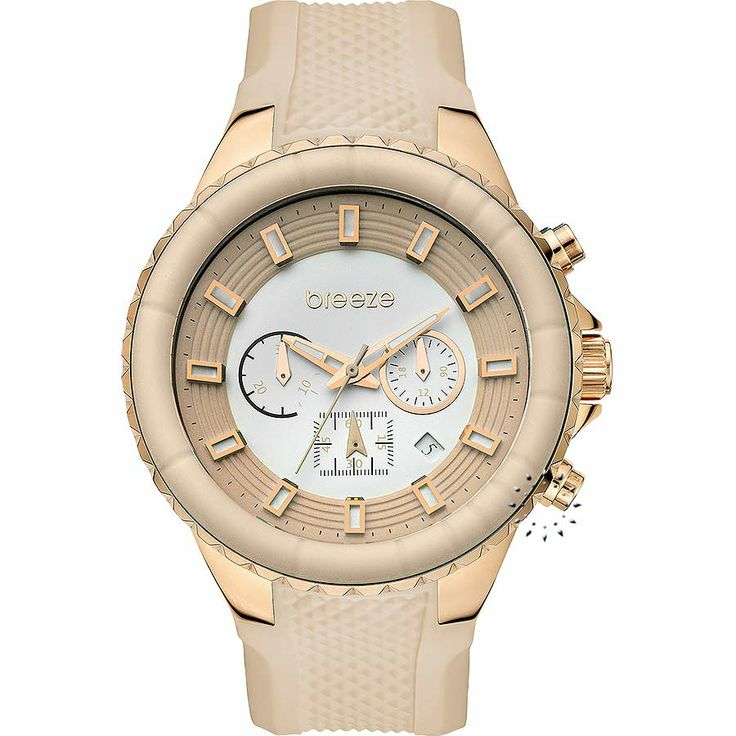BREEZE Air Hollywood Chrono Beige Rubber Strap Μοντέλο: 110091.6 Τιμή: 180€ http://www.oroloi.gr/product_info.php?products_id=30588