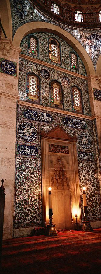 Rustem Pasa Mosque Istanbul Turkey by Panoramic Images