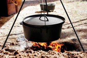 Dutch Oven:Love cooking over the fire pit.  I love experimenting with cooking in a Dutch oven, making chili, chicken & rice, desserts & much more!