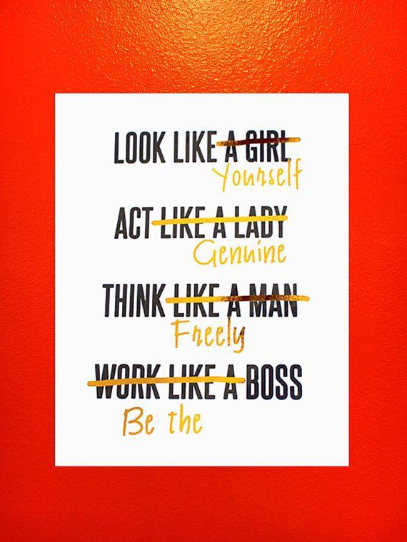 work like a man