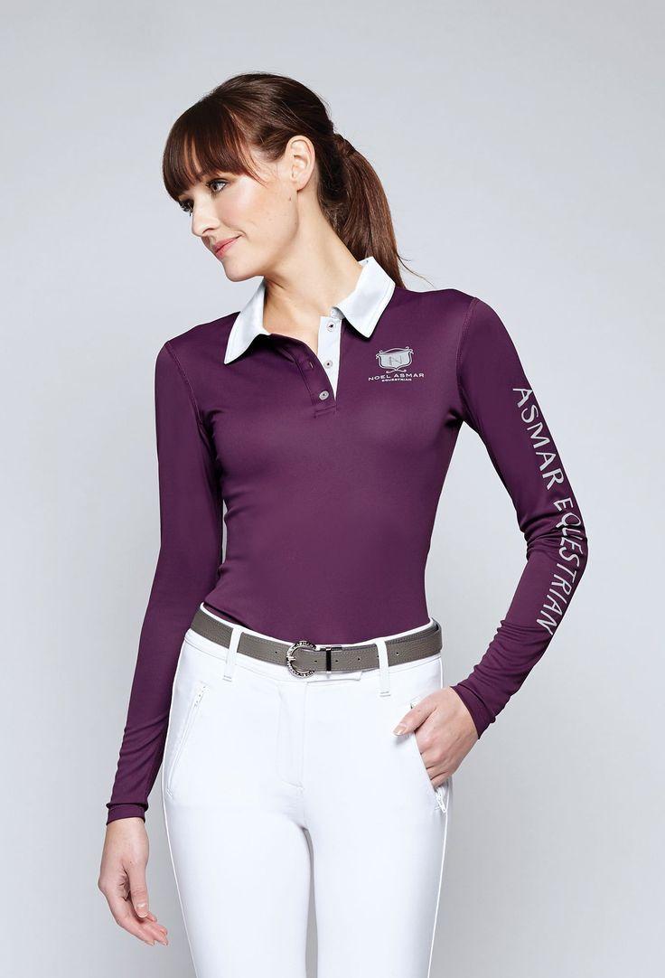 Ladies Equestrian Long Sleeve Polo Shirts Bcd Tofu House