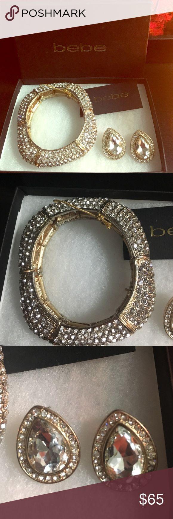 ✨ Bebe Bracelet & Earrings Gold Set ✨ ✨ Bebe Bracelet & Earrings Gold Set ✨---brand new, box included! bebe Jewelry Bracelets
