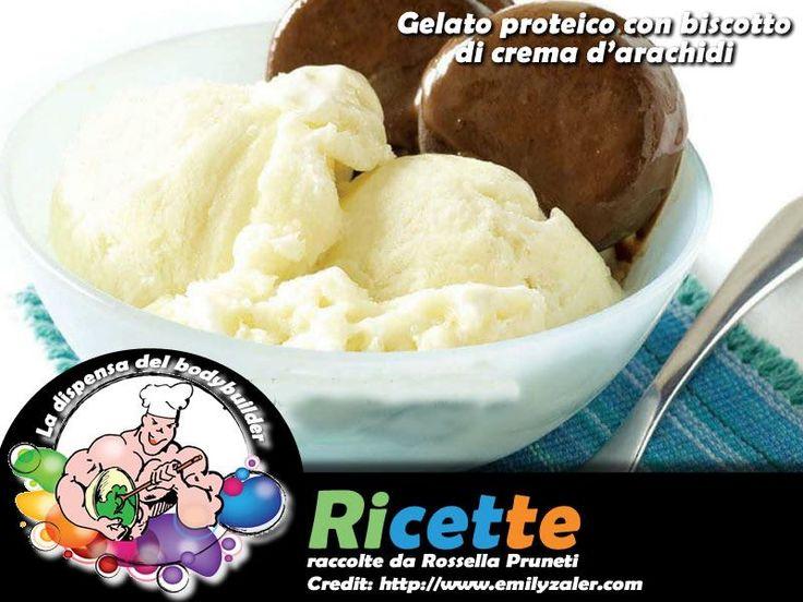 Gelato proteico con biscotto di crema d'arachidi