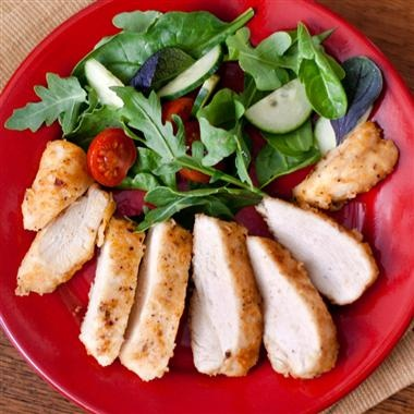 Boneless chicken is seasoned and oven-fried for great taste that's quick and easy enough for any day of the week.