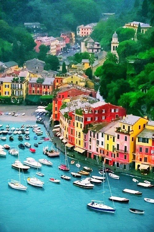 #Portofino in #Italien - bunt machen Städte doch gleich doppelt so viel Spaß