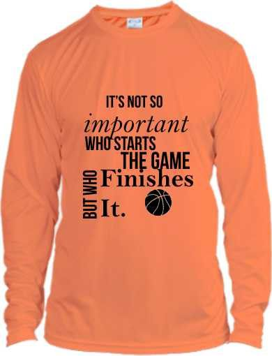 Motivational Basketball Shirt Dry Fit Basketball Clothing Long Sleeve by NikkisNameGifts on Etsy