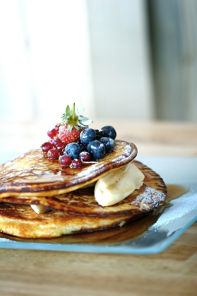 Soho's fruit pancake for brunch menu