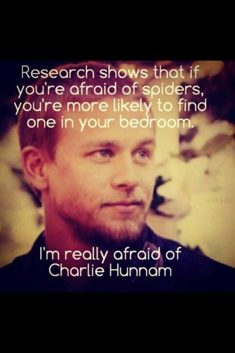 .I am its true....I'm really afraid of Charlie Hunnam......Darn it isn't working LOL :)