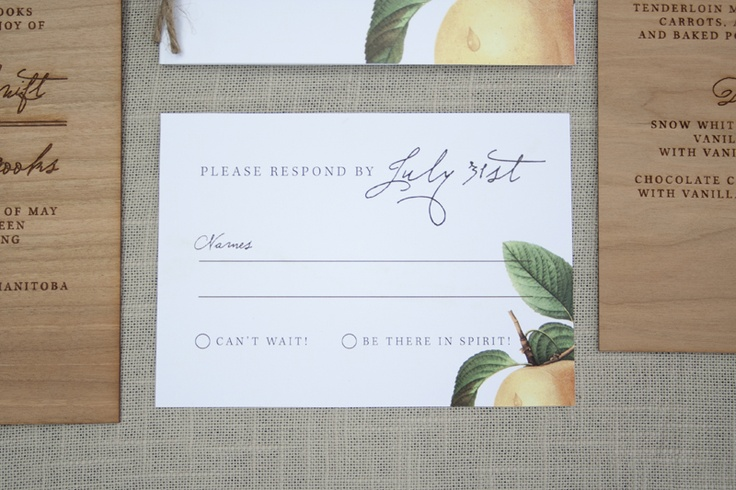 cool reply card.  love the mix of fonts.
