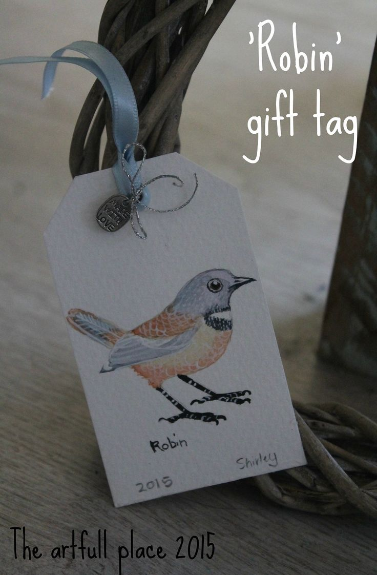 My water colour painted Robin, that I used for gift tags. For more details, visit my blog - http://theartfullplace.blogspot.com/