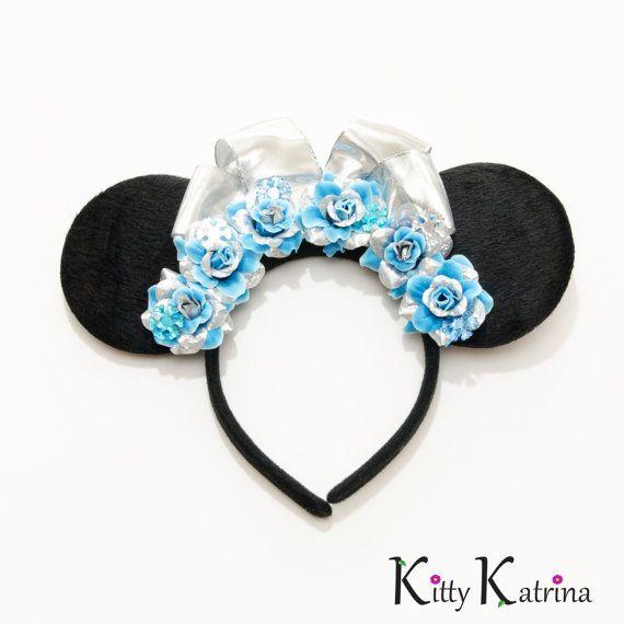 Princess Elsa Mouse Ears Inspired Headband, Princess Elsa Dress, Elsa Costume, Elsa Crown, Frozen Birthday Party, Frozen Dress, Disney Bound