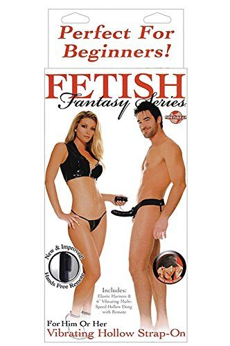 Fetish Fantasy Series for Him or Her Vibrating Hollow Strap On  Black -- Click image to review more details.