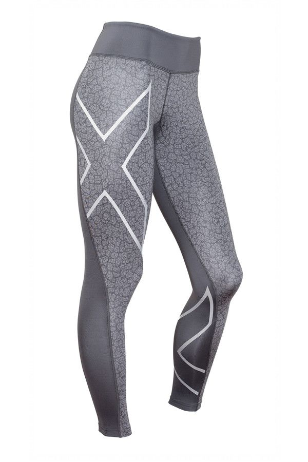 2XU - Pattern Mid- Rise Full Length Compression Tights
