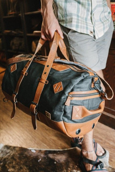 Dakota Vintage Travel Duffle Bag - Navy