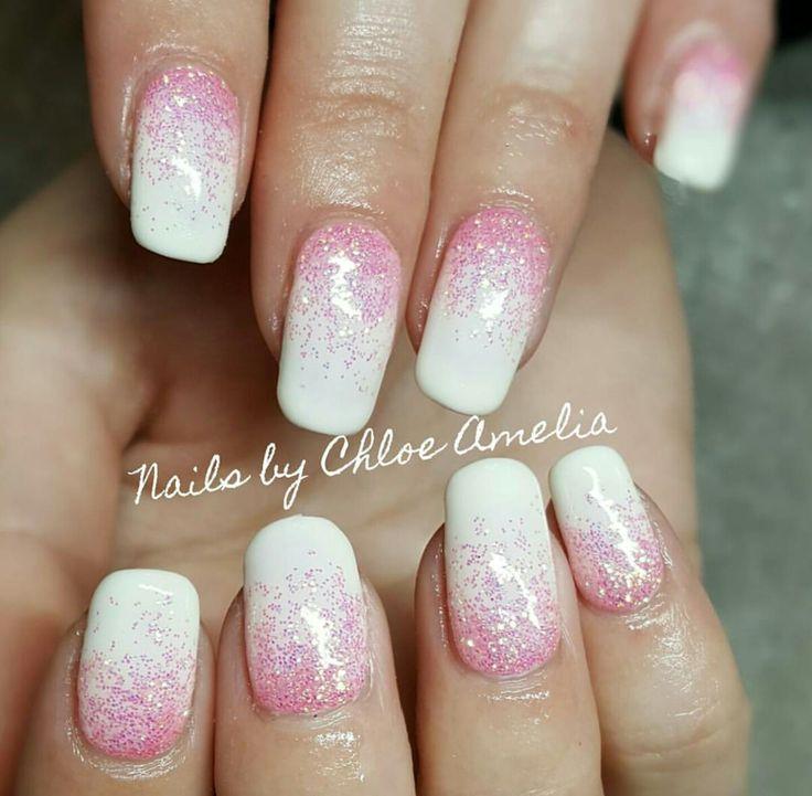 Glitter fade nails- Calgel Manicure