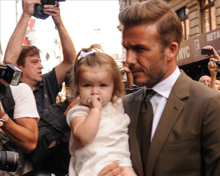 David Beckham Brings Harper to Support Victoria at New York Fashion Week -      For someone who is only 14 months old, little Harper Beckham is quite the fashionista. And the little one was back at New York Fashion Week with her father David Beckha