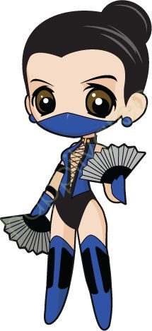 Chibi Kitana - Mortal Kombat.