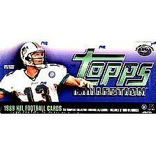 1999 Topps Football Factory Sealed 357 Card Set. Loaded with Rookies and Stars Including Daunte Culpepper, Donovan Mcnabb, Edgerrin James, Emmitt Smith, Dan Marino, Bledsoe, Elway, Steve Young, Aikman, Favre, Jerry Rice and More! by Topps. $22.99. This is the factory sealed 357 card 1999 Topps football set. Includes rookies of Ricky Williams, Daunte Culpepper, Donovan McNabb, Edgerrin James, Jevon Kearse, Torry Holt, Tim Couch, David Boston, Peerless Price, Champ Ba...