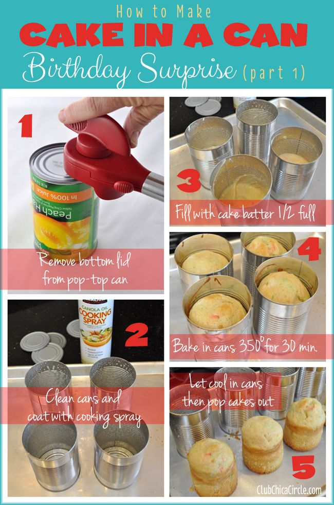 Cake in a Can Birthday Surprise DIY | Club Chica Circle - where crafty is contagious
