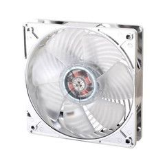 SST-AP121-White: SilverStone created Air Penetrator fan specifically designed for intake fan applications, where airflow rating is not a priority. The design goal for Air Penetrator is to focus airflow into a column that can be channeled through various obstacles inside the modern computer case for more efficient cooling performance
