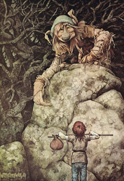 A troll painting from Brian's 'The Land of Froud'...a book I used to pour over in college, absolutely entranced by Brian's vision of Faerie...and never dreaming that one day Brian & Wendy would be two of my best friends. Life is so surprising.: