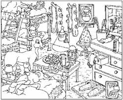 free santa workshop coloring pages - photo#13