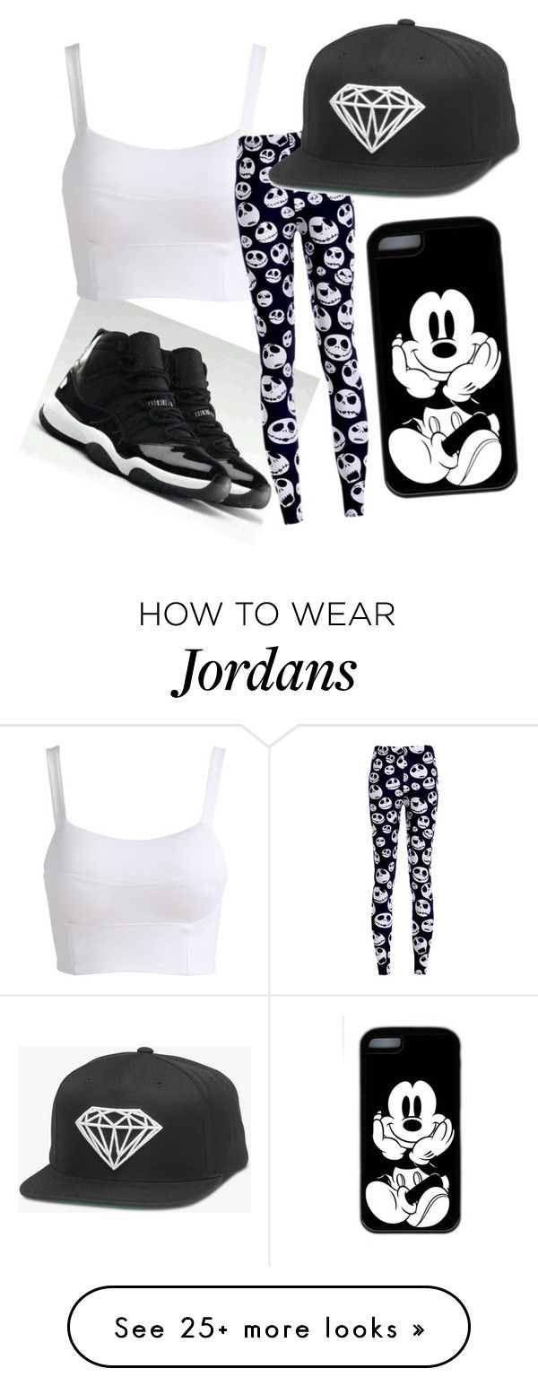 """""""Black and White"""" by jeseniadiaz on Polyvore featuring NIKE"""