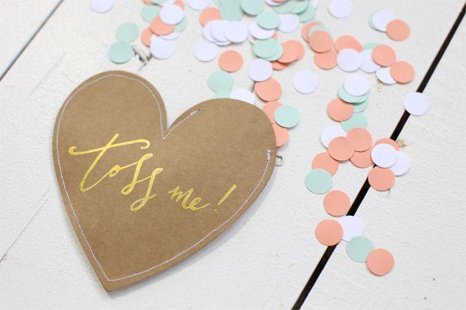 DIY Alex Mae heart tag confetti pockets
