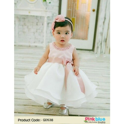 fd002cfe17ae Buy White Special Occasion   Wedding Frock for kid Girl