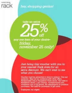 Nordstrom Rack Black Friday coupon