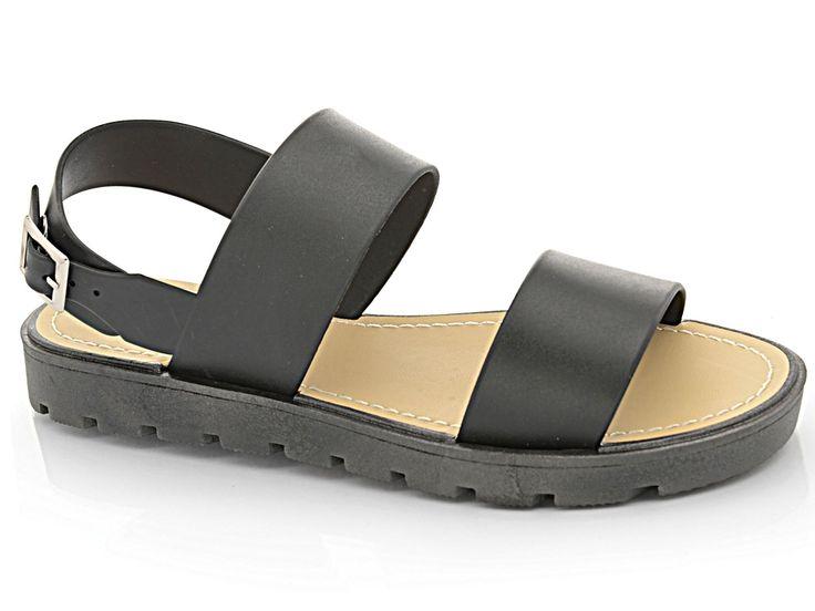Ladies Girls Peep Toe Flat Strappy Jelly Fashion Gladiator Holiday Beach Sandal | eBay