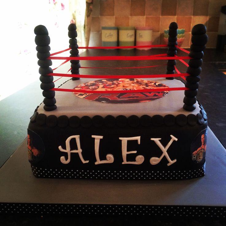 Wwe Birthday Cake Wrestling Cake Birthday Ideas
