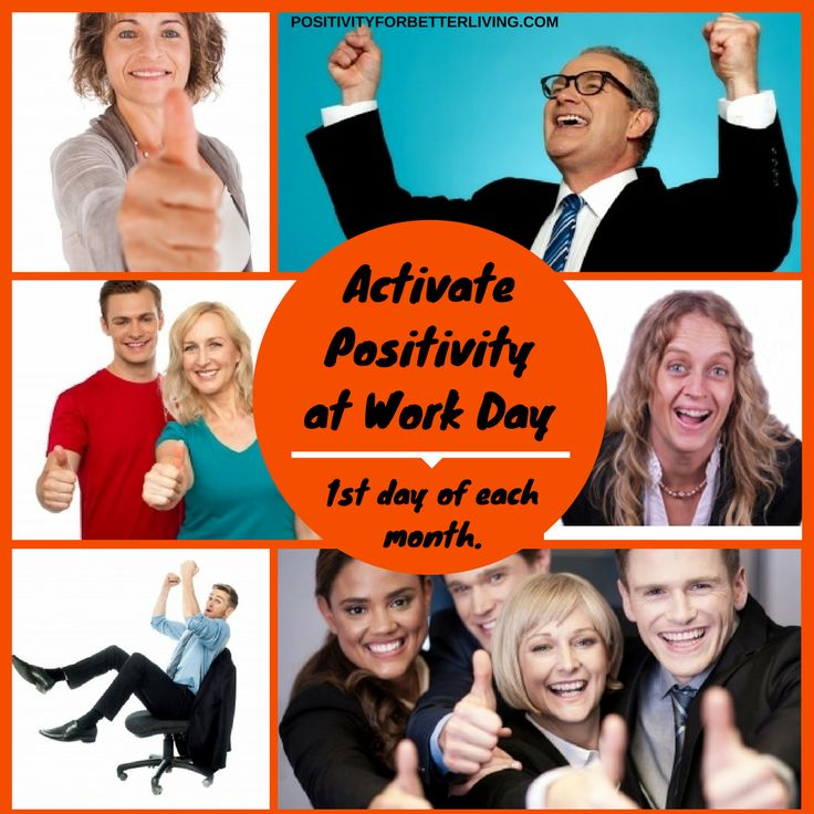 Activate #positivity in your #workplace