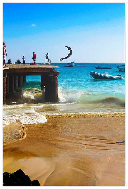 A young boy diving in the sea - Sal, Cape Verde #Kaapverdie