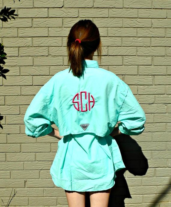 Perfect coverup for spring and summer monogrammed for Custom columbia pfg shirts