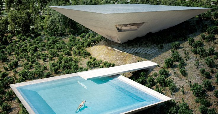 This Spanish Vacation House Has a Very Unusual Shape for a Very Good Reason