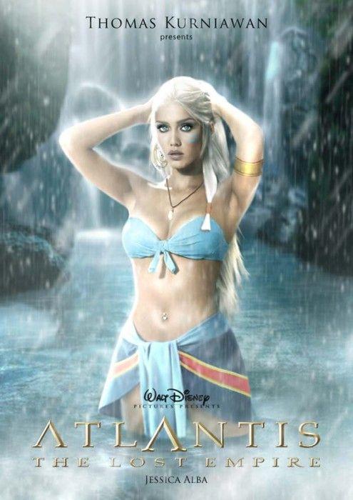 Jessic Alba es la princesa de atlantis