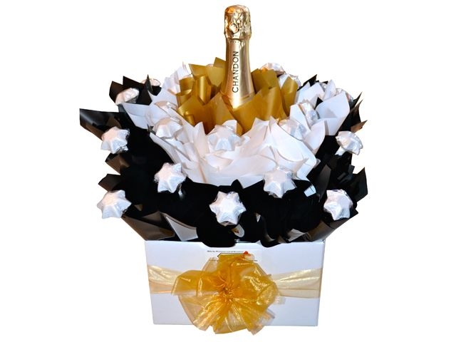 Classic Black and White, Chocolate Bouquet (with a touch of Gold)