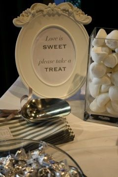 Wedding by Mei & May / White candy buffet